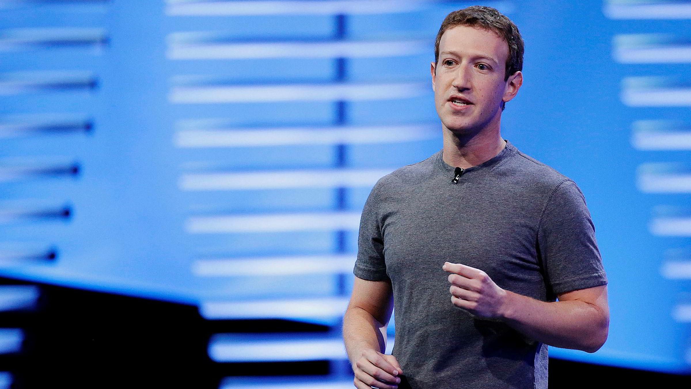 Skal vi le eller gråte? spør artikkelforfatter Kjersti Løken Stavrum i Stiftelsen Tinius. Her Facebook-gründer Mark Zuckerberg.