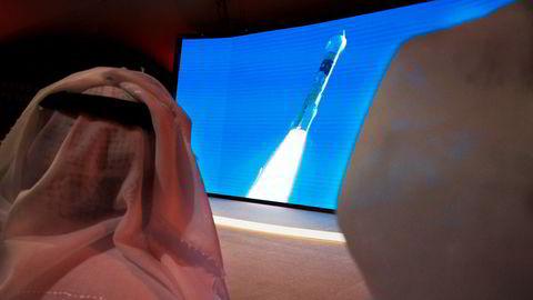 Oppskytingen i Japan ble fulgt fra skjermer på romsenteret Mohammed Bin Rashid i Dubai