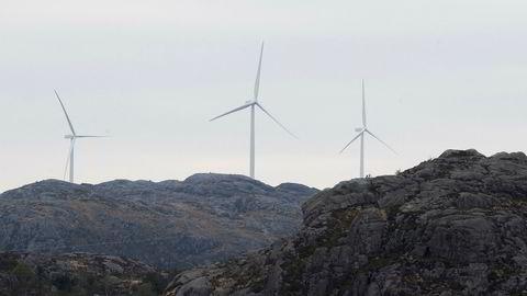 Vindturbiner i Eigersund kommune i Rogaland.
