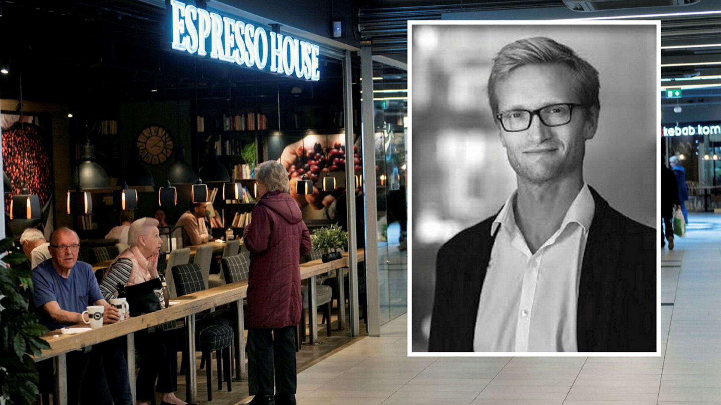 Kaffekjeden Espresso House er blant de største mottagerne av regjeringens kontantstøtte. Økonomiprofessor Gisle Natvik er kritisk til hvor pengene ender opp.