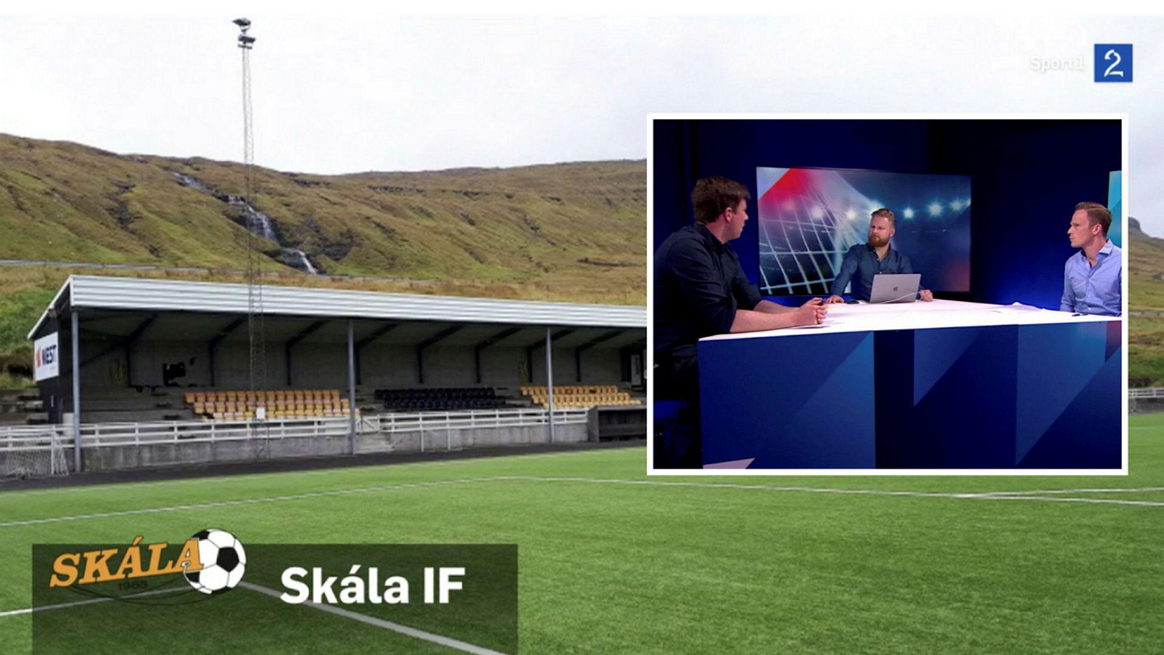 Færøysk fotball fenger. Det lille landet Færøyene er ikke nødvendigvis kjent for fotballigaen sin, likevel var 77.000 nordmenn innom TV 2s fotballsending fra den færøyske ligaen, som ble ledet av programleder Marius Skjelbæk (midten), med ekspertene Jesper Mathisen (til venstre) og Simen Stamsø Møller.