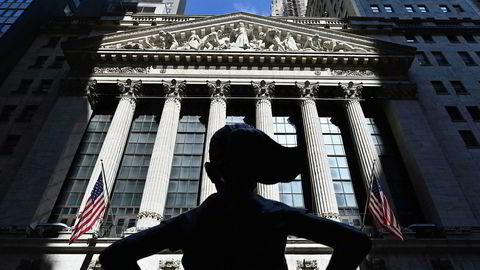 Wall Street ender med en markant nedgang mandag kveld.