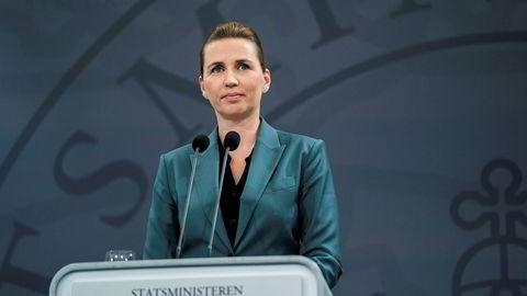 Statsminister Mette Frederiksen holdt pressekonferanse om en gradvis åpning av Danmark mandag kveld.