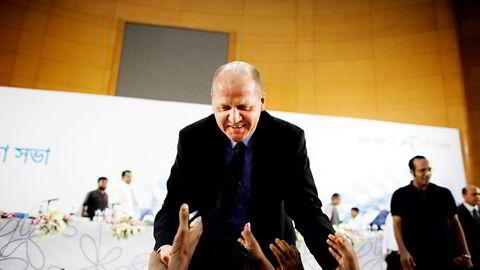 Til tross for at Telenor ikke er inne i India lenger, tror Sparebank 1 Markets at dette kan øke den politiske risikoen knyttet til selskapets rammevilkår i Asia. Her Telenor-sjef Sigve Brekke.