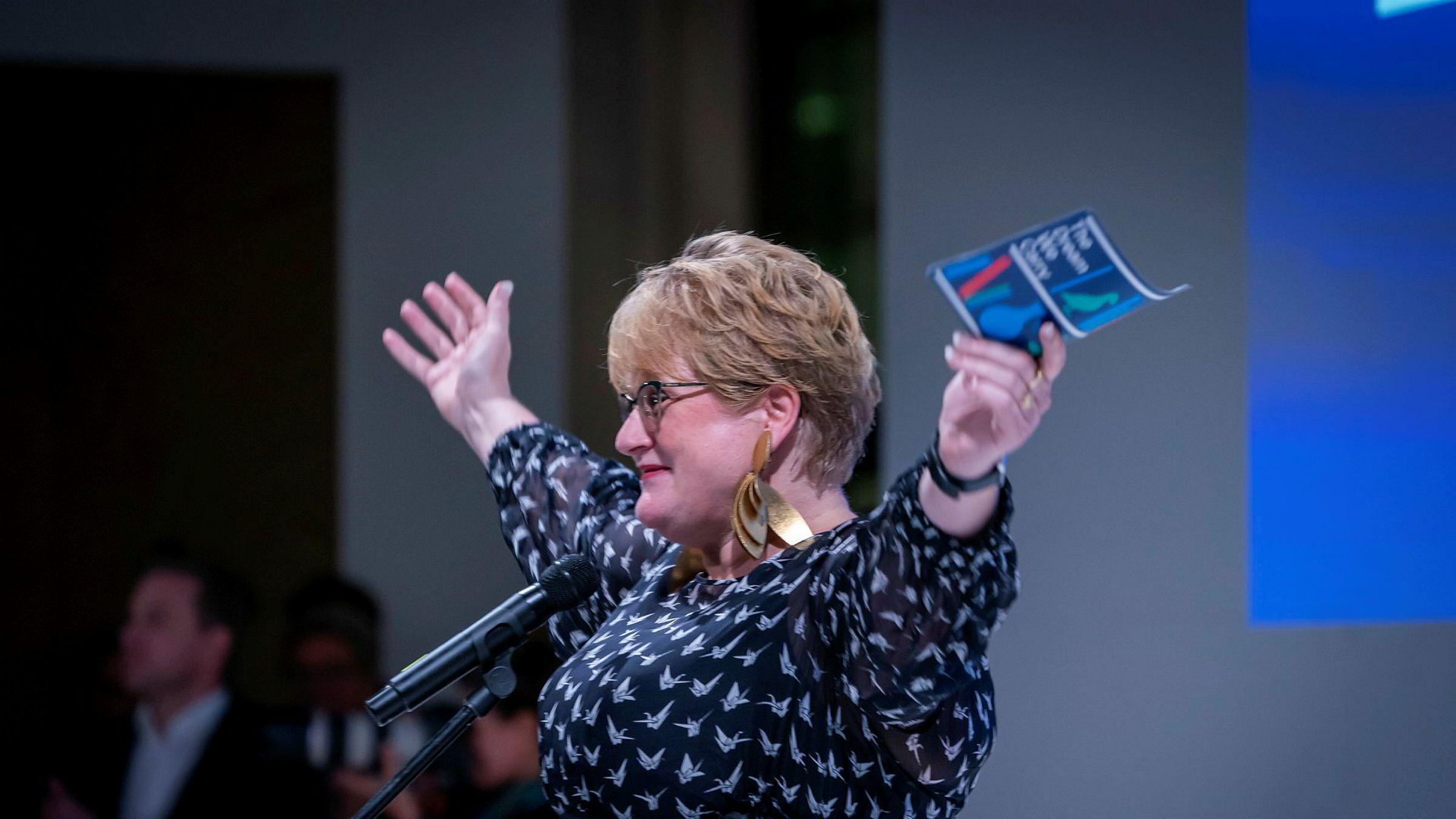 Kulturminister og Venstre-leder Trine Skei Grande henviser alle spørsmål om Venstres partiledelse til valgkomiteen.