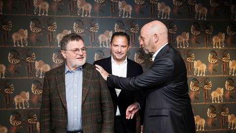 Asmund Haare (fra venstre), Mads Jacobsen og Rune Firing da det nye hotellkonsernet Maribel ble lansert høsten 2018. Nå er det over for hotelleventyret.