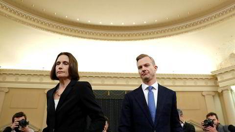 Fiona Hill og David Holmes vitner onsdag kveld i Kongressen.