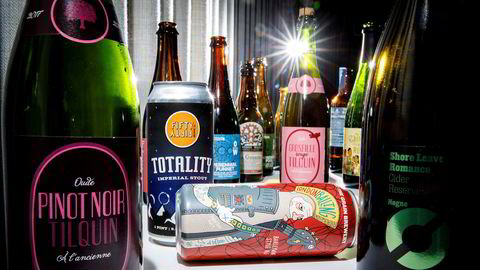 Polet slipper spesialøl torsdag. Fra venstre, Tilquin Pinot Noir, Totality Imperial Stout fra FiftyFifty, London Balling fra Against the Grain, Tilquin Groseille Rouge og Shore Leave Romance fra Nøgne Ø.