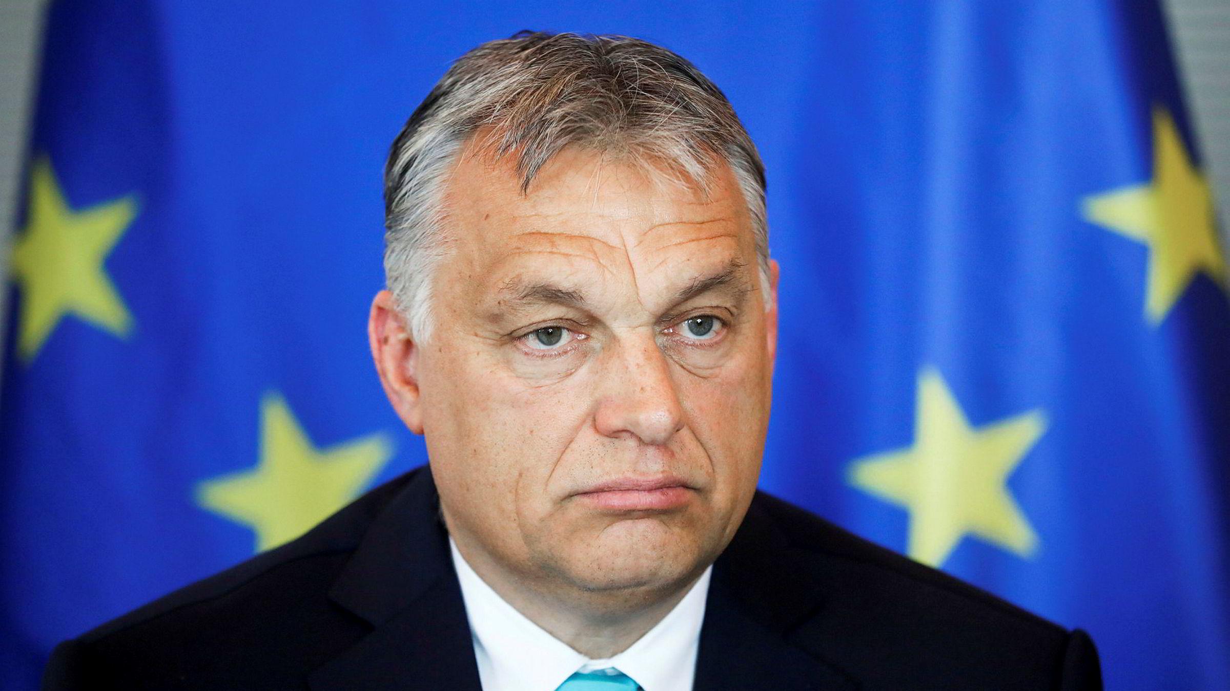 Ungarns statsminister Viktor Orbán spår massemobilisering mot EU og for kristne familieverdier.