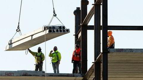 Bygningsarbeid i Philadelphia, USA.