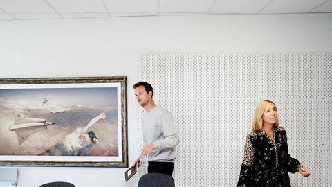 Fra venstre: Strategisk rådgiver og kundeansvarlig Markus Eckbo Endresen og daglig leder Bente Kvam Kristoffersen i Trigger rapporterer om et svakt 2017.
