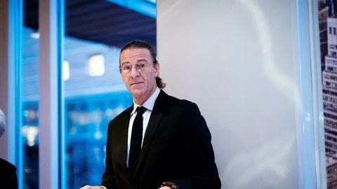 Forvalter Dominic Scrivener på nyttårskonferansen til Skagenfondene.