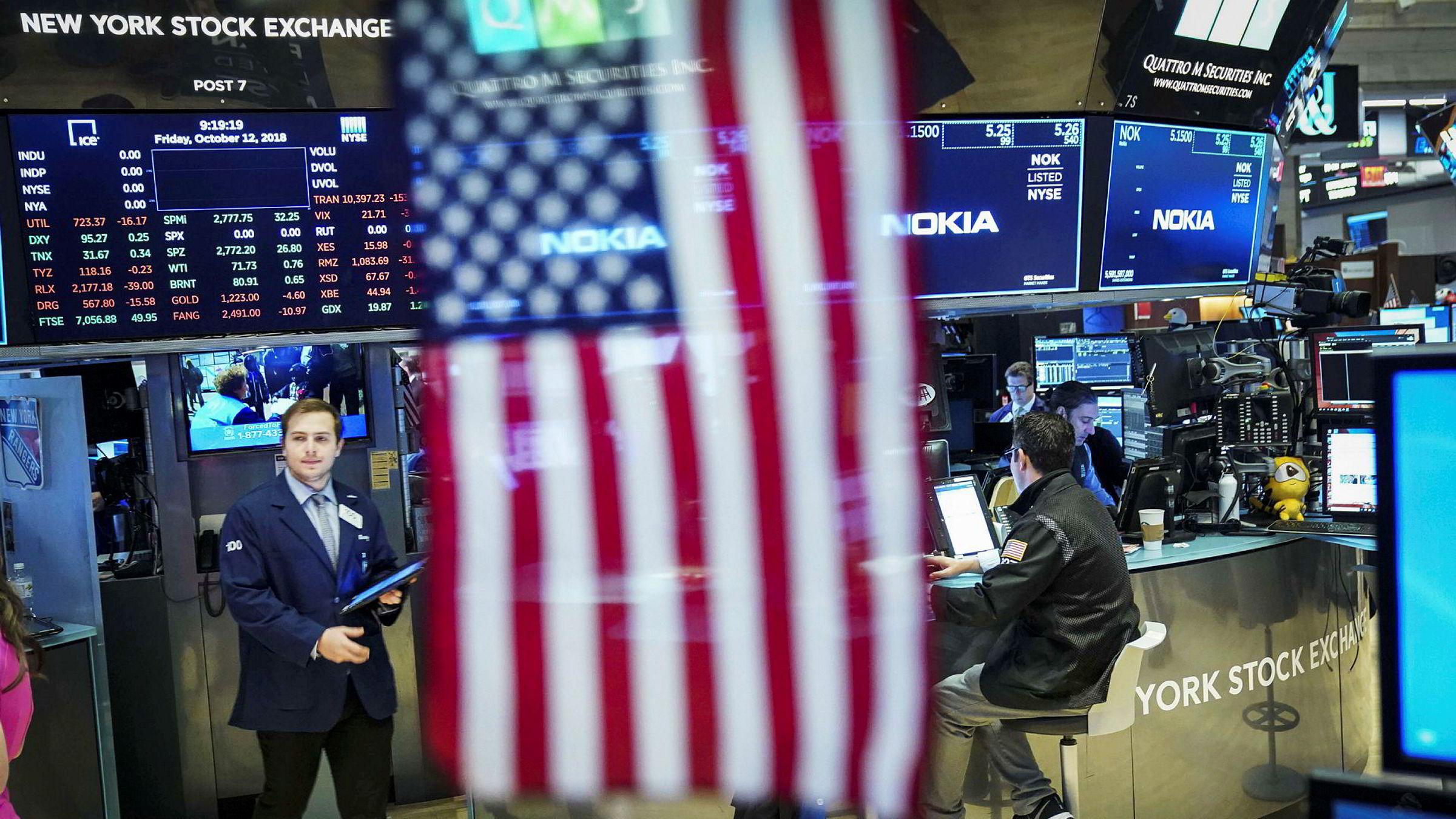 New York Stock Exchange, en av de to store børsene med base på Wall Street i New York.
