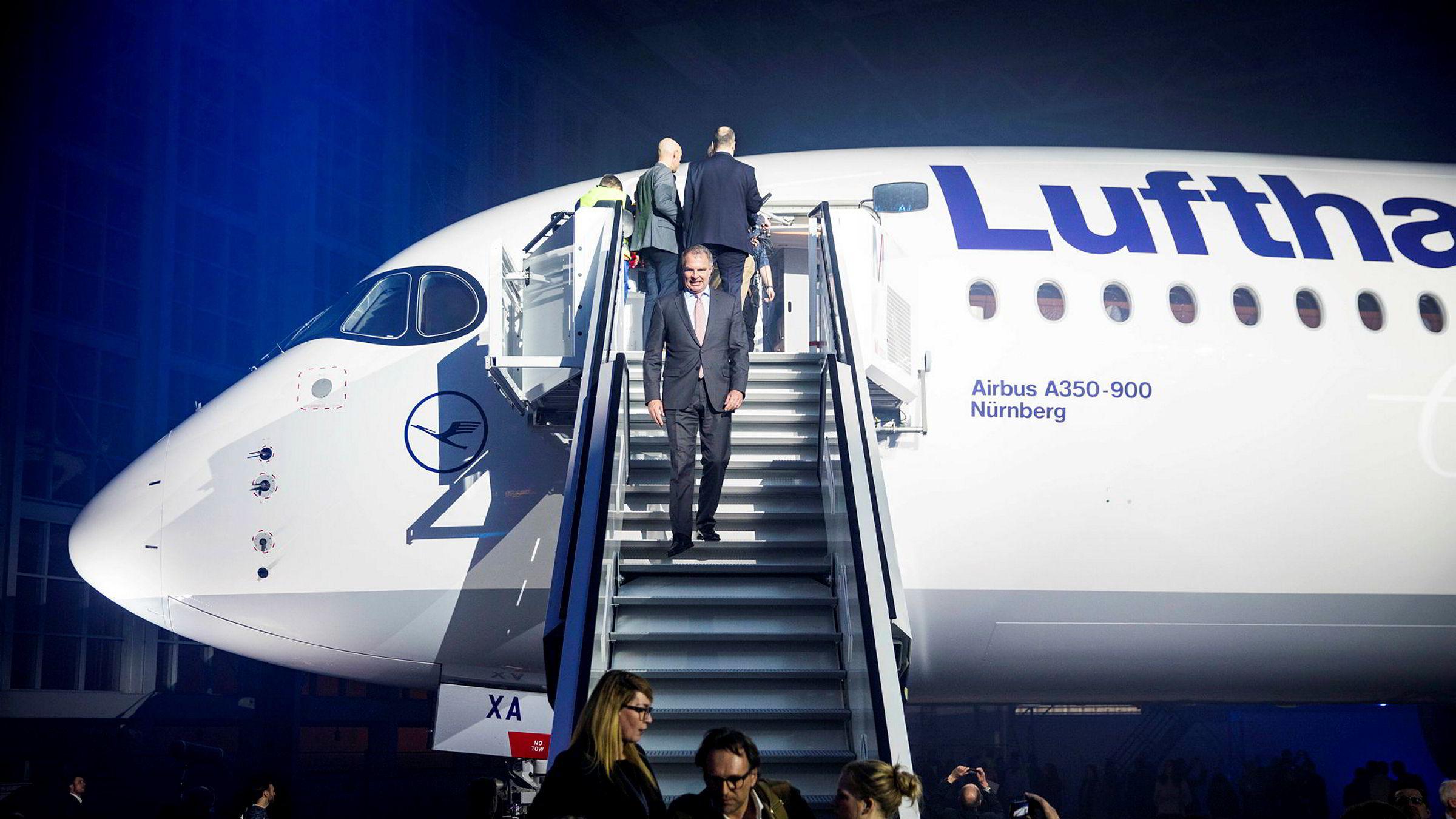 Lufthansa fikk en vekst på 2,3 prosent i 2019.