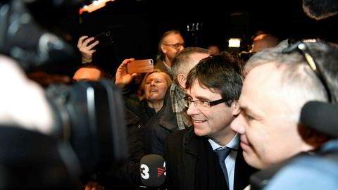 Den katalanske separatistledere Carles Puigdemont ankom København i morges.