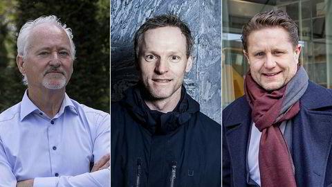 Fra venstre er tidligere Fast-topp Robert Keith, investor Ketil Skorstad og investor Kristian G. Lundkvist. Disse tre, sammen med Edvin Austbø, eier nå samlet over halvparten av aksjene i Thin Film.