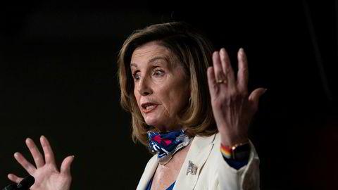 Demokratenes leder i Representantenes hus, Nancy Pelosi, er ikke overrasket over at president Donald Trump har testet positivt for koronaviruset.