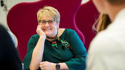 Venstre-leder Trine Skei Grande har grunn til å være mer optimistisk nå for sin egen sjefsfremtid etter at hun tok sine konkurrenter inn i regjering.