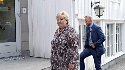 Statsminister Erna Solberg under den koronapregede Arendalsuka 2020.