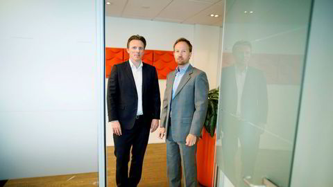 EQTs toppsjef Christian Sinding (til høyre) og Norden-sjef Anders Misund har høstet flere milliarder kroner privat det siste året, tross koronakrisen. De håper å gjøre et nytt oppkjøp i Norge før året er omme.