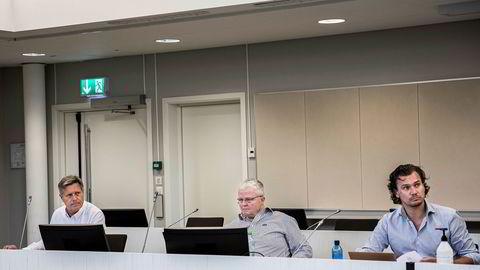 De tidligere Ateltech-styremedlemmene (fra venstre) John David Mosvold, Steinar Bratlie og Espen Rønold Aas fikk ikke medhold i sin arrestbegjæring.