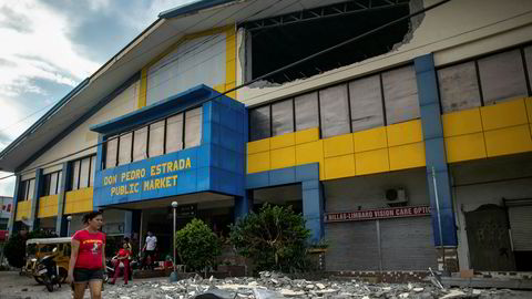 Kraftig jordskjelv på øya Mindanao på Filippinene tirsdag morgen.