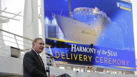 Richard Fain, toppsjef i Royal Caribbean Cruises. Selskapet forventer et årlig tap på 65 cent per aksje som følge av virusutbruddet.