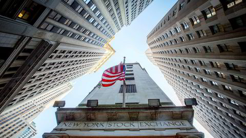 Personalinngangen til New York Stock Exchange, ligger klemt mellom Wall Street og New Street.