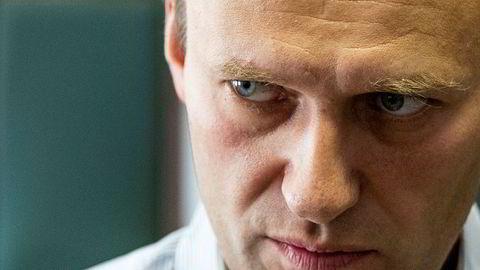 Den russiske opposisjonslederen og aktivisten Aleksej Navalnyj fotografert under en rettssak i Moskva i februar 2018.