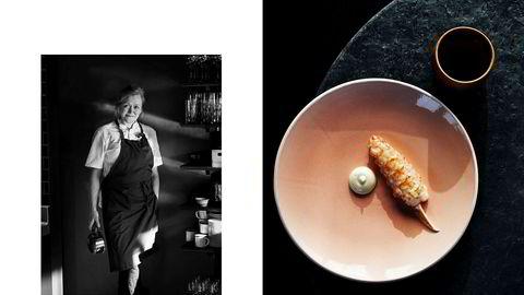 Minimal luksus. Så vidt grillet sjøkrepshale med en dæsj smaksintensiv majones er mat Heidi Bjerkan liker å servere.