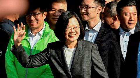 Taiwan sittende president Tsai Ing-wen blir sittende etter lørdagens valg.