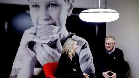 Q-Meieriene har vokst mye de siste årene og har fått tilskudd for å ta opp kampen med Tine. Q-sjef Bent Myrdahl og styreleder Kristine Aasheim kjemper for at distribusjonstilskuddet blir opprettholdt.