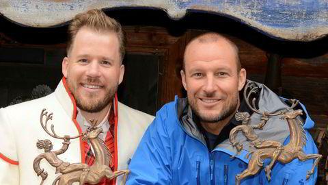 Kjetil Jansrud (til venstre) og Aksel Lund Svindal har i en årrekke vært aksjonærer i videokonferanseselskapet Pexip.