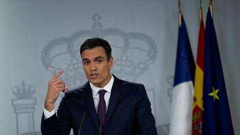 Spanias statsminister Pedro Sanchez står i fare for å miste nødvendig budsjettstøtte fra en gruppe småpartier.