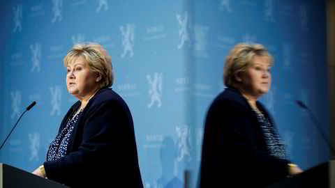 Statsminister Erna Solberg vil ikke følge opp vedtaket om å fjerne formuesskatten i sin helhet fra Høyres landsmøte. Foto: Vidar Ruud / NTB
