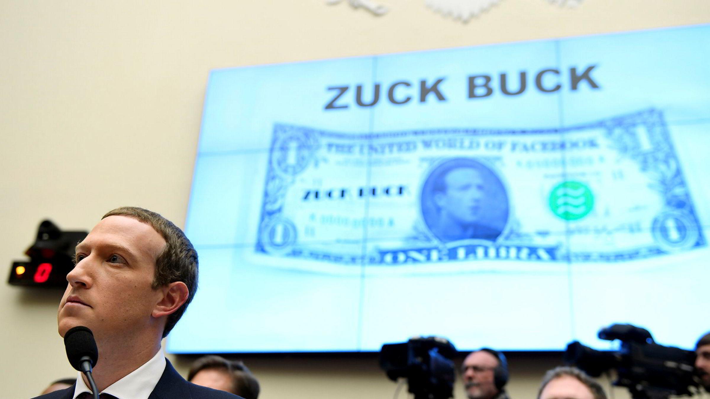 Facebook-sjef Mark Zuckerberg under kongresshøringen i finanskomiteen i Representantenes hus onsdag kveld, blant annet for å snakke om kryptovalutaen Libra.