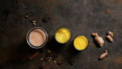 Juledrikk. Hjemmelaget chai-te og golden milk er gode drikker i førjulstiden