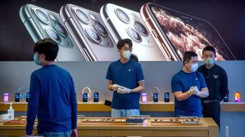 Apple-aksjen faller bratt tirsdag.