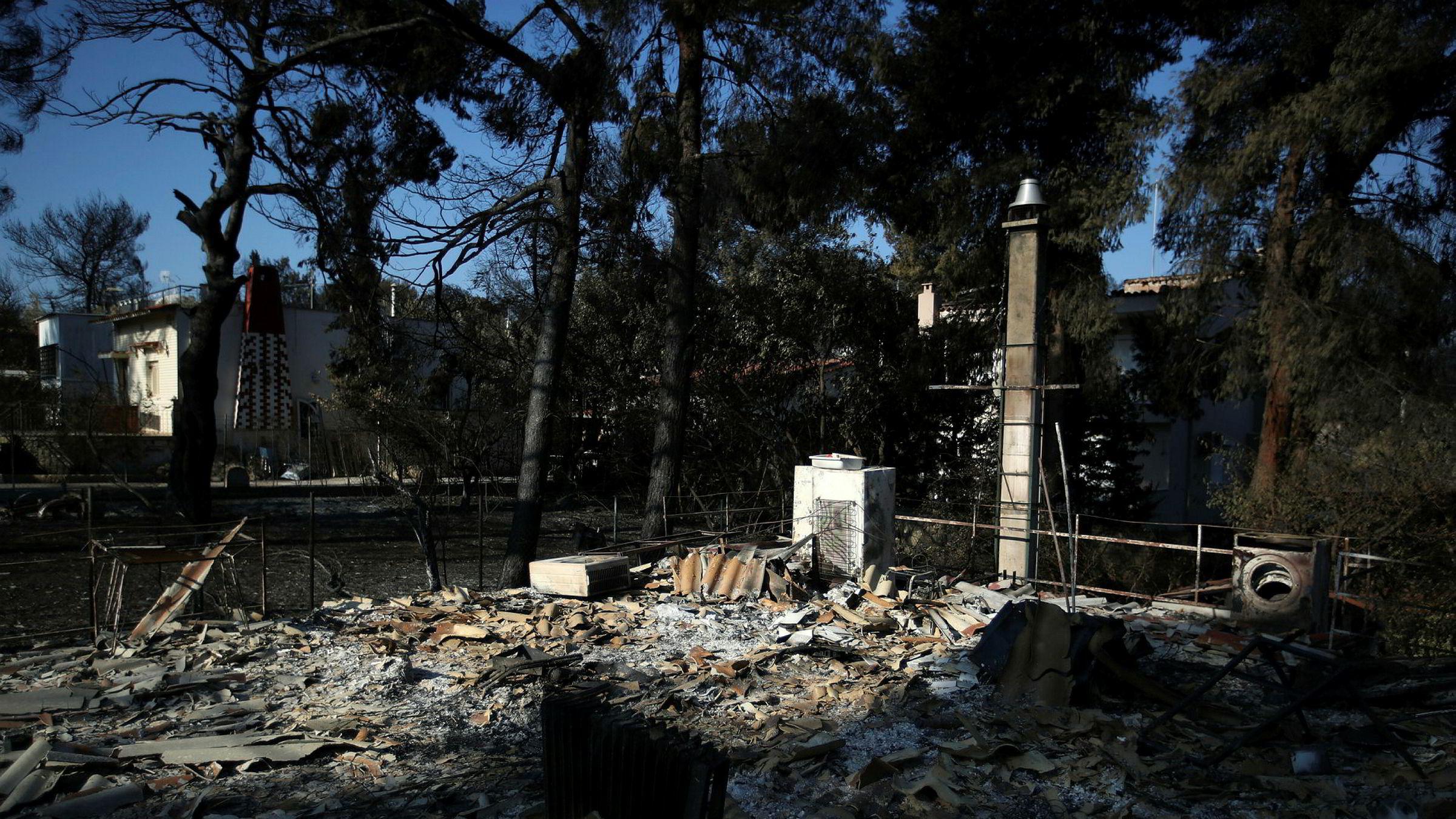 Mange døde etter de voldsomme skogbrannene i Hellas forrige uke.