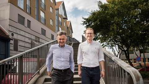Far og sønn, Knut og Halvor Øgreid, gjør nok et storsalg i sentrum av Stavanger.