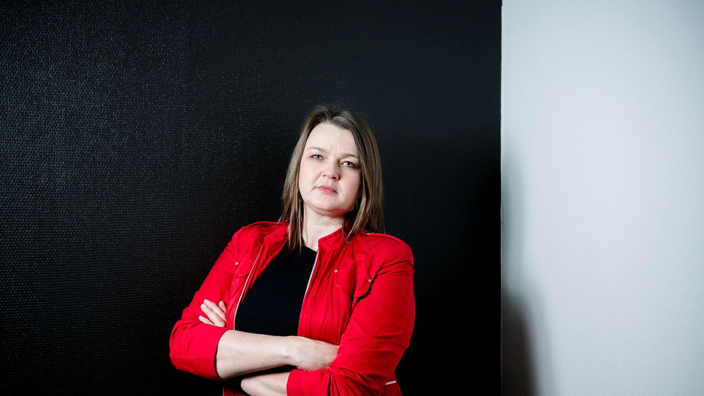 Hege Iren Frantzen, leder for Norsk Journalistlag. Norsk Journalistlag har undersøkt hvor mange journalister som opplever seksuell trakassering på jobb.