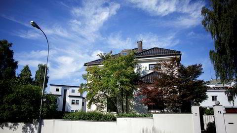 Byvillaen i Thomas Heftyes gate på Frogner i Oslo som Pia Øien Cohler kjøpte i fjor. Nå blir den bygget om og pusset opp.