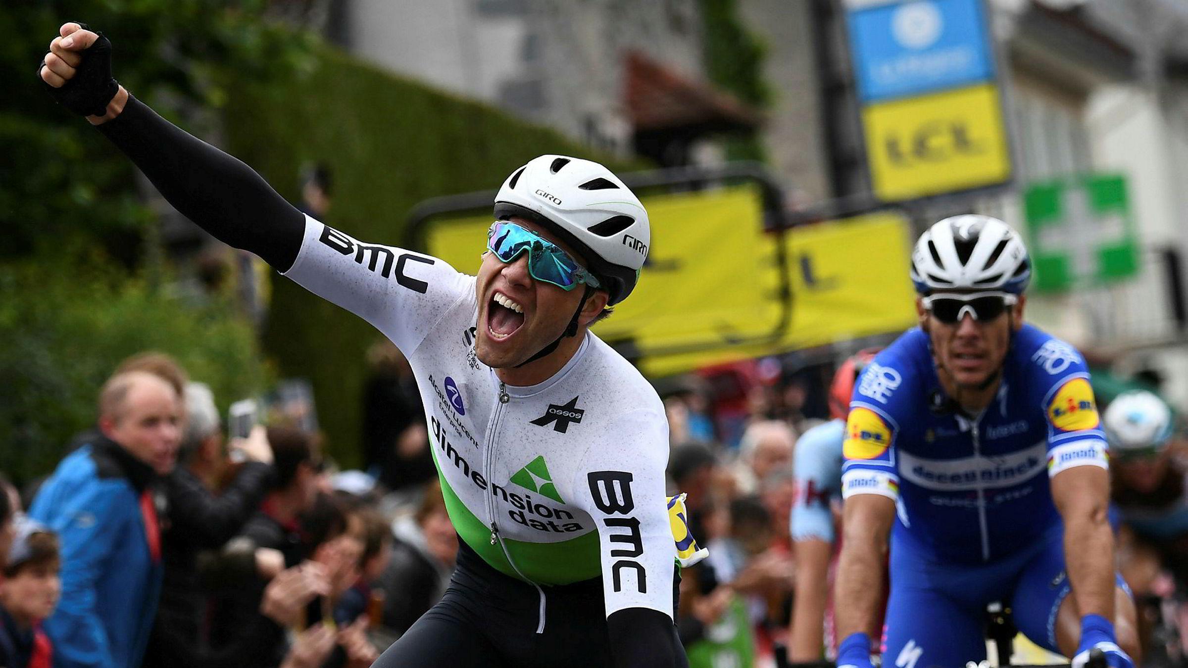 Edvald Boasson Hagen har grunn til å feire mer enn å krysse målstreken, slik han gjør på dette bildet tatt i fjor.
