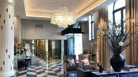 «Nye» Britannia Trondheim er ikke et utpreget backpack-hotell. Her er det er ikke spart noe, hverken marmor eller søyler.