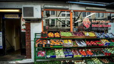 Prisen på matvarer har steget mer enn vanlig denne våren. Her er Babylon Dagligvarer i Trondheim.