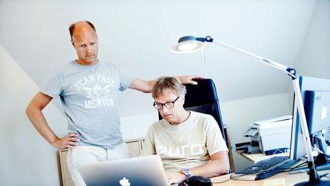 Brødrene Kristian og Roger (til venstre) Adolfsen har bygget opp ett av Norges største private velferdsimperium i Hospitality Invest og Norlandia Health & Care Group. 2017 ble et tungt år på grunn av et sterkt fall i antall asylsøkere.