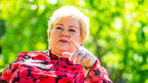 Statsminister Erna Solberg oppsummerer halvåret med stor selvtillit