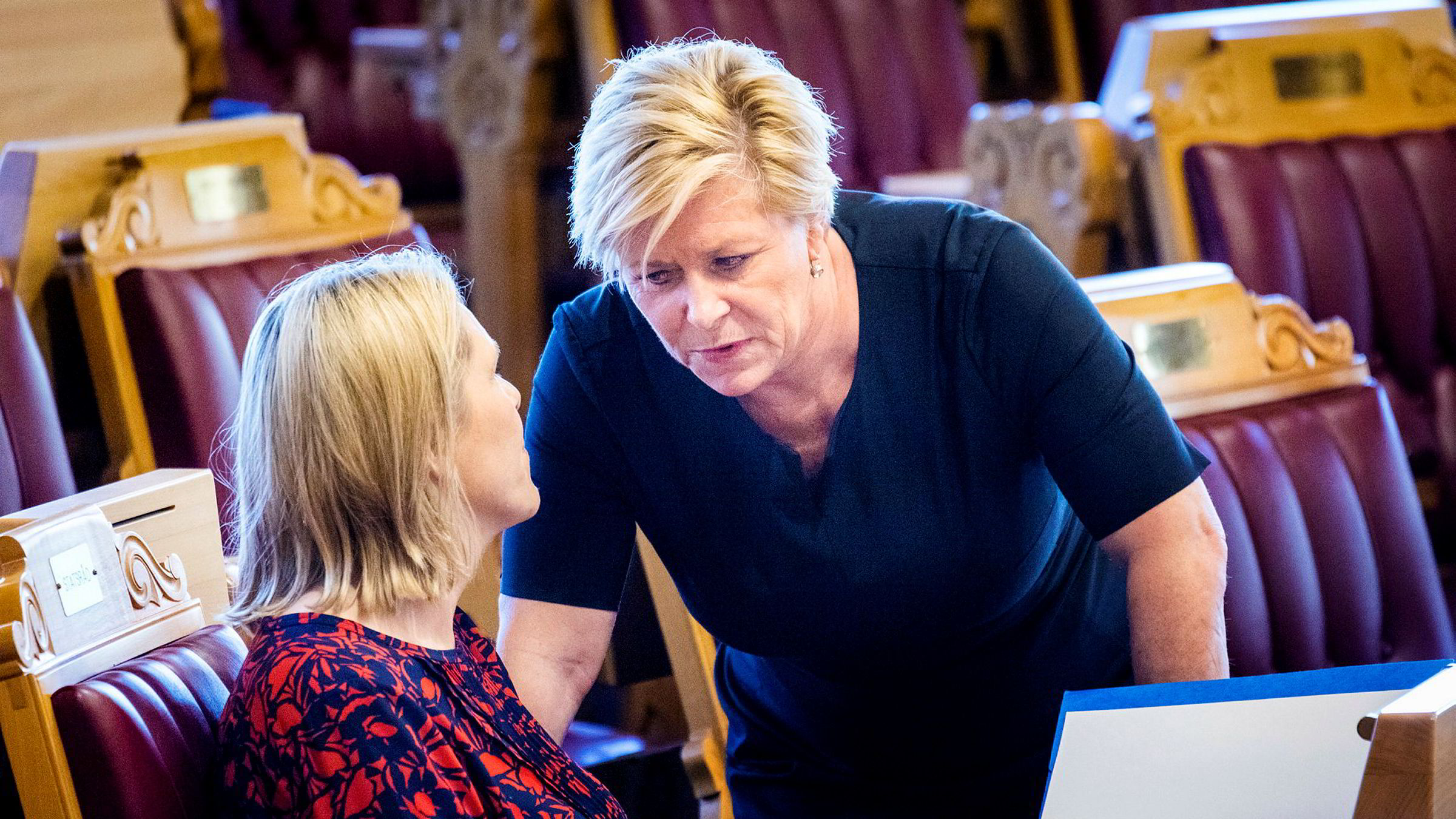 Både Siv Jensen og Sylvi Listhaug skal ha kommet med klar beskjed på strategiseminaret.