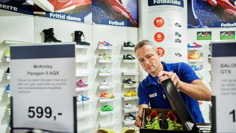 Reidar Dvergedal er daglig leder i Intersport Sogndal. Han syntes det var trist å høre om Gresvig-konkursen, men sier han har tro på Intersport-merkevaren.