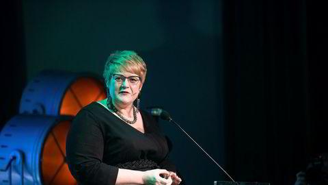 Partileder Trine Skei Grande åpnet fredag Venstres landsmøte på Gardermoen.